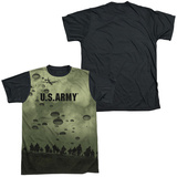 Army - Air To Land Black Back T-Shirt