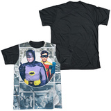 Batman Classic TV - 60S Panels Black Back T-shirts