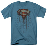 Superman - Shield Drip T-shirts
