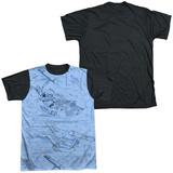 Star Trek - Blue Print Black Back Shirts
