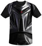 Battlestar Galactica - Cylon Face Black Back T-Shirts
