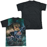Jurassic Park - Dinos Gather Black Back Shirt