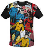 Star Trek - Long Panel Black Back T-Shirt