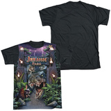 Jurassic Park - Welcome To The Park Black Back Shirts