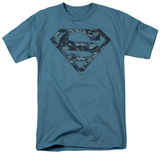 Superman - Navy Camo Shield Shirt