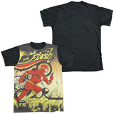 The Flash - Just Passing Through Black Back T-Shirt