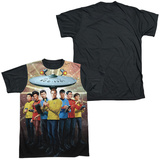 Star Trek - Original Crew Black Back T-shirts
