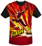 The Flash - Lightning Fast Black Back Shirt