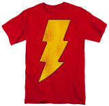 Shazam - Shazam Logo Distressed T-Shirt