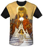 Labyrinth - Cover Art Black Back T-shirts