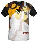 Samurai Jack - Eternal Foes Black Back Shirt