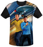 Star Trek - Phasers Down Black Back Shirts