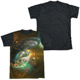 Star Trek - Battle Ships Black Back T-Shirt