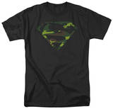 Superman - Distressed Camo Shield T-Shirt