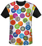 Wham-O - Frisbee Collage Black Back Shirts