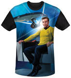 Star Trek - Kirk's Ship Black Back T-shirts