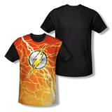 The Flash - Lightning Logo Black Back Sublimated
