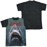 Jaws - Poster Black Back T-Shirt