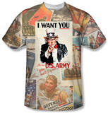 Army - Vintage Collage T-shirts