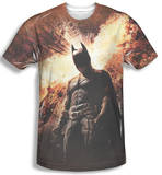 Dark Knight Rises - Fire Poster T-shirts