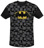Batman - Caped Crusader Repeat Black Back T-shirts