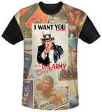 Army - Vintage Collage Black Back T-Shirt