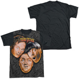 The Three Stooges - Stooges All Over Black Back T-shirts
