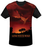 Gone With The Wind - Sunset Black Back T-Shirt