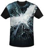 Dark Knight Rises - Big Poster Black Back T-shirts