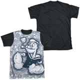 Popeye - Tattooed Sailor Black Back Shirt