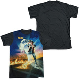 Back to the Future - Movie Poster Black Back T-Shirts