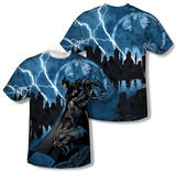 Batman - Lightning Strikes (Front/Back Print) T-shirts