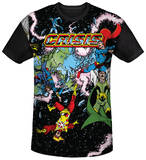Justice League - Crisis Variant Black Back T-shirts