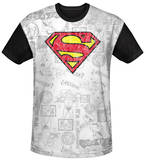 Superman - Classic Repeat Black Back Shirts