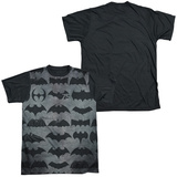 Batman - 75 Symbols Black Back T-shirts