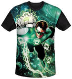 Green Lantern - Galactic Hal Black Back T-shirts