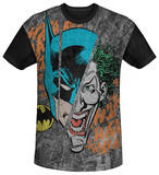 Batman - Broken Visage Black Back T-shirts