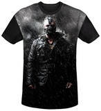 Dark Knight Rises - Bane In Rain Black Back T-shirts