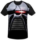 Battlestar Galactica(Classic) - Cylon Stare Black Back T-Shirt