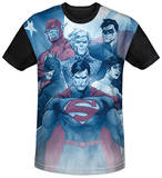 Justice League - United Black Back T-shirts