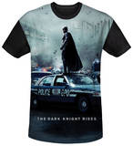 Dark Knight Rises - Standoff Black Back T-shirts