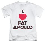 Youth: Battlestar Galactica - I Heart Fat Apollo Shirts