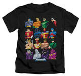 Juvenile: Batman The Brave and the Bold - Cast Of Characters T-shirts