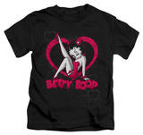 Juvenile: Betty Boop - Scrolling Hearts T-shirts