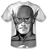 The Flash - Black and White Flash Head T-shirts