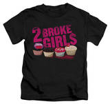Youth: 2 Broke Girls - Cupcakes T-shirts