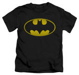 Youth: Batman - Washed Bat Logo T-Shirt