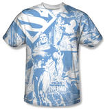 Superman - Man Of Steel Collage T-Shirt