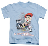 Juvenile: Betty Boop - So Many Shoes T-shirts