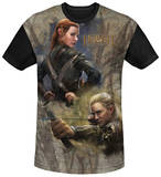 The Hobbit: The Desolation of Smaug - Elves Black Back T-Shirt